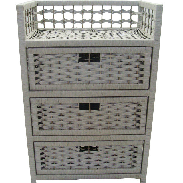Good price handmade wicker cabinet with wood frame