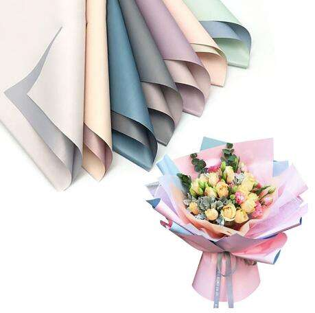 Flowers Two-tone Paper Packaging Gift Wrapping Neutral Color Florist Wrapping Paper Flower Bouquet Supplies