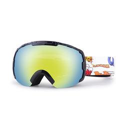 Interchangeable dual lens ski goggles magnetic anti fog polarized snowing eyewear