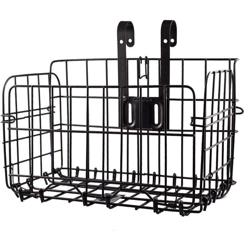 Bicycle basket folding front basket mountain electric rear shelf car frame hanging basket