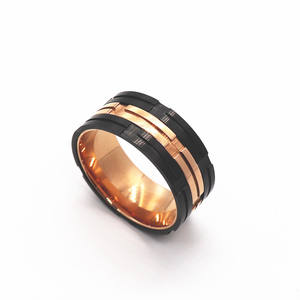 Rose gold plated jewelry stainless steel ring jewelry women fashion color assortment ring men