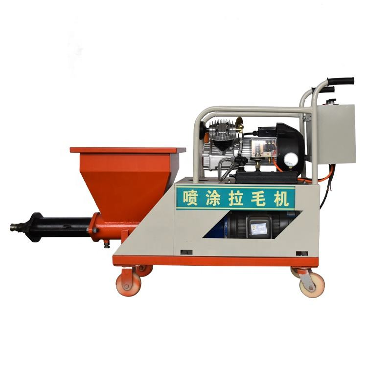 Screw vertical conveying distance 15m wall plastering mortar spraying machine