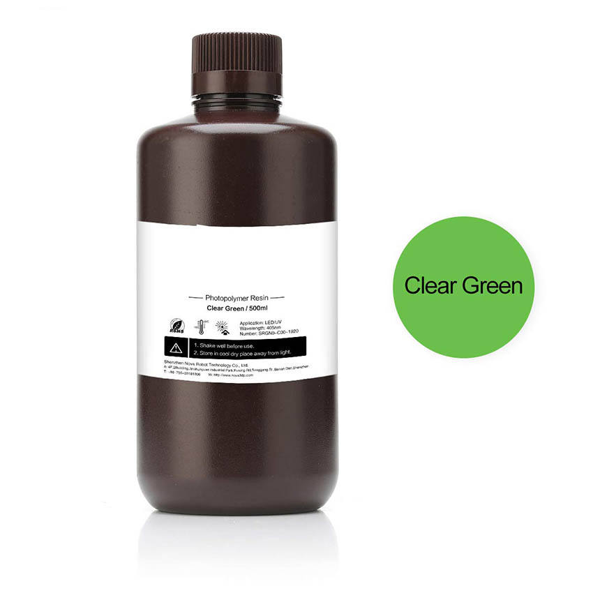 LCD UV 405nm Rapid Resin for Photon 3D Printer (Clear Green, 500ml) dental acrylic teeth
