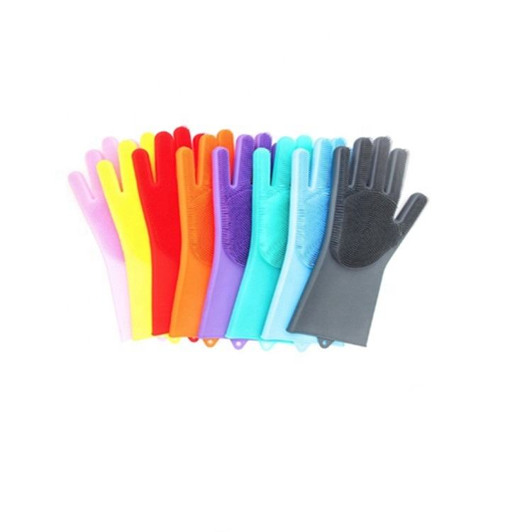 Silicone Glove [ Gloves Rubber ] Rubber Silicon Gloves Washing Magic Silicone Gloves Cleaning Gloves Silicone Rubber Washing Gloves