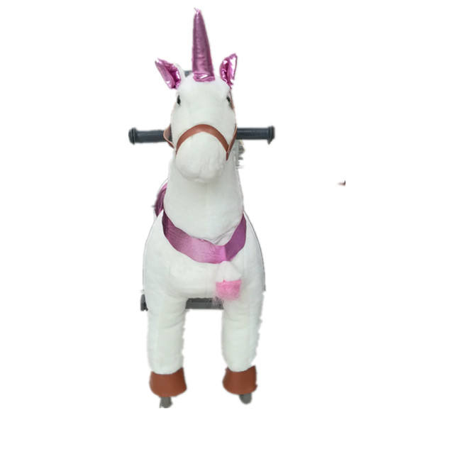 Guangzhou Funny walking mechanical ride on horse toy pony small size unicorn ride on horse for sale