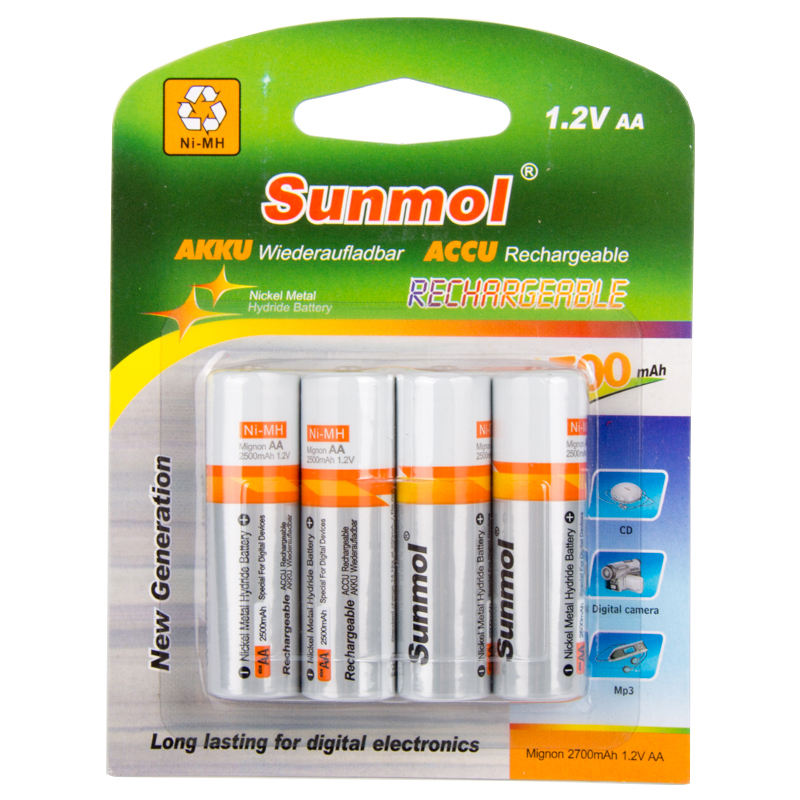 1.2V Nimh Aa Rechargeable Battery