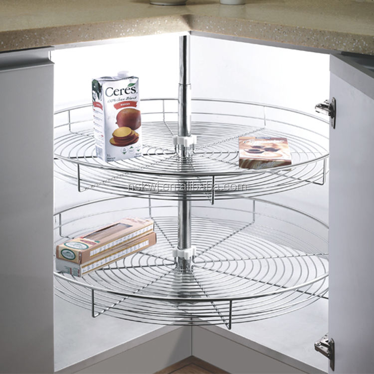360 degree Revolving Kitchen Basket Cabinet Corner storage basket