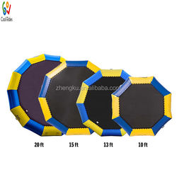 Customized water sea inflatable floating trampoline/Water leisure float inflatable games/water trampoline clearance for sales