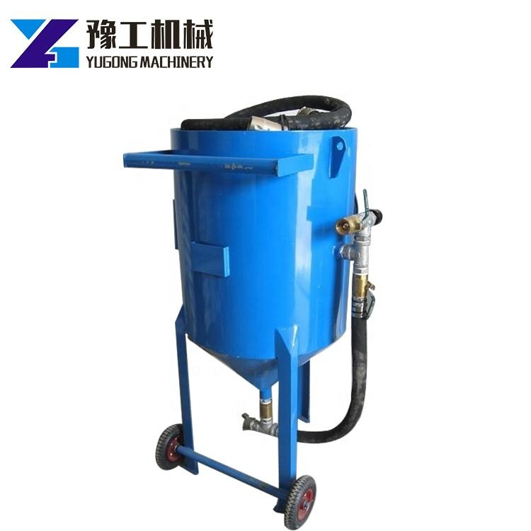Portable Small Pot For Cleaning Glass Sand Blaster Shot Blasting System