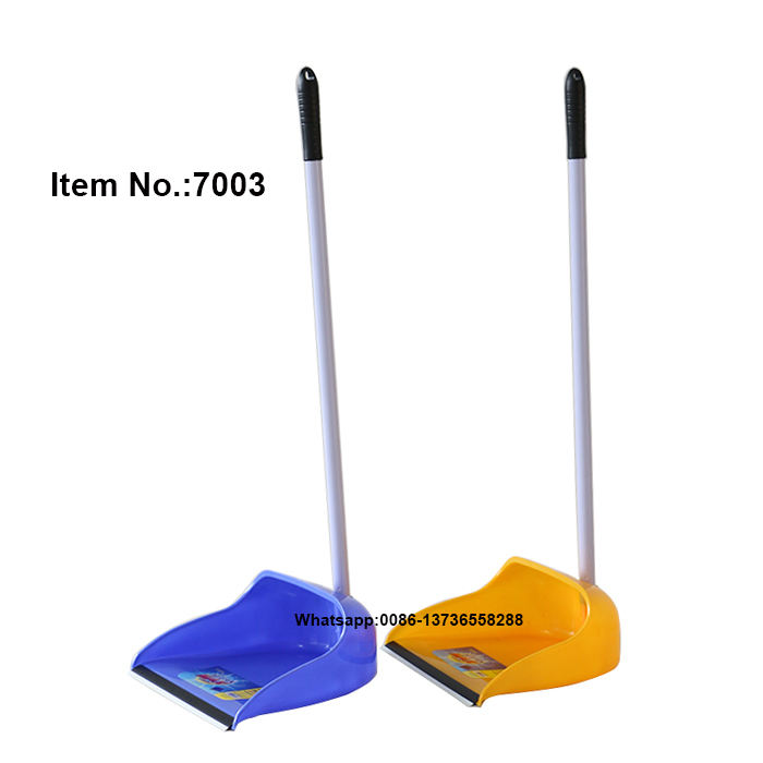 HQ7003 with long iron handle plastic floor dust pan