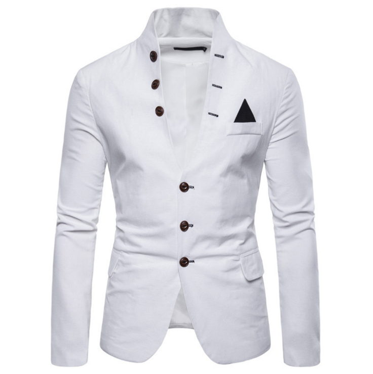 Men Blazer High Quality England Fashion Slim Fit Men Suit Blazers Single Breasted Tuxedo Prom Party Wedding