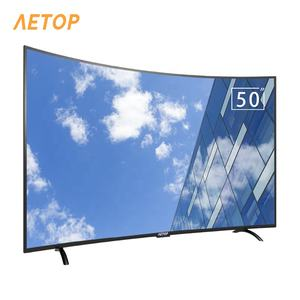 Hot sale television 4k smart tv curved 50 inch television android 4k hd led curve TV with bluetooth