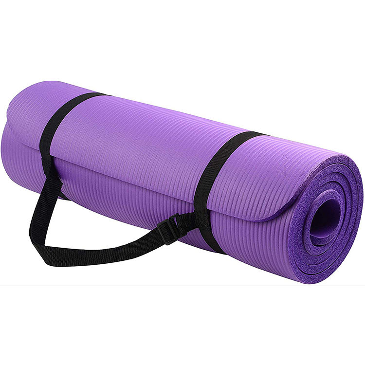 1/2-Inch Extra Thick High Density Anti-Tear Custom NBR Exercise Yoga Mat With Carrying Strap