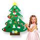 Xmas Home Door Decoration Gifts Educational DIY Felt Christmas Tree with Ornament Set for kids