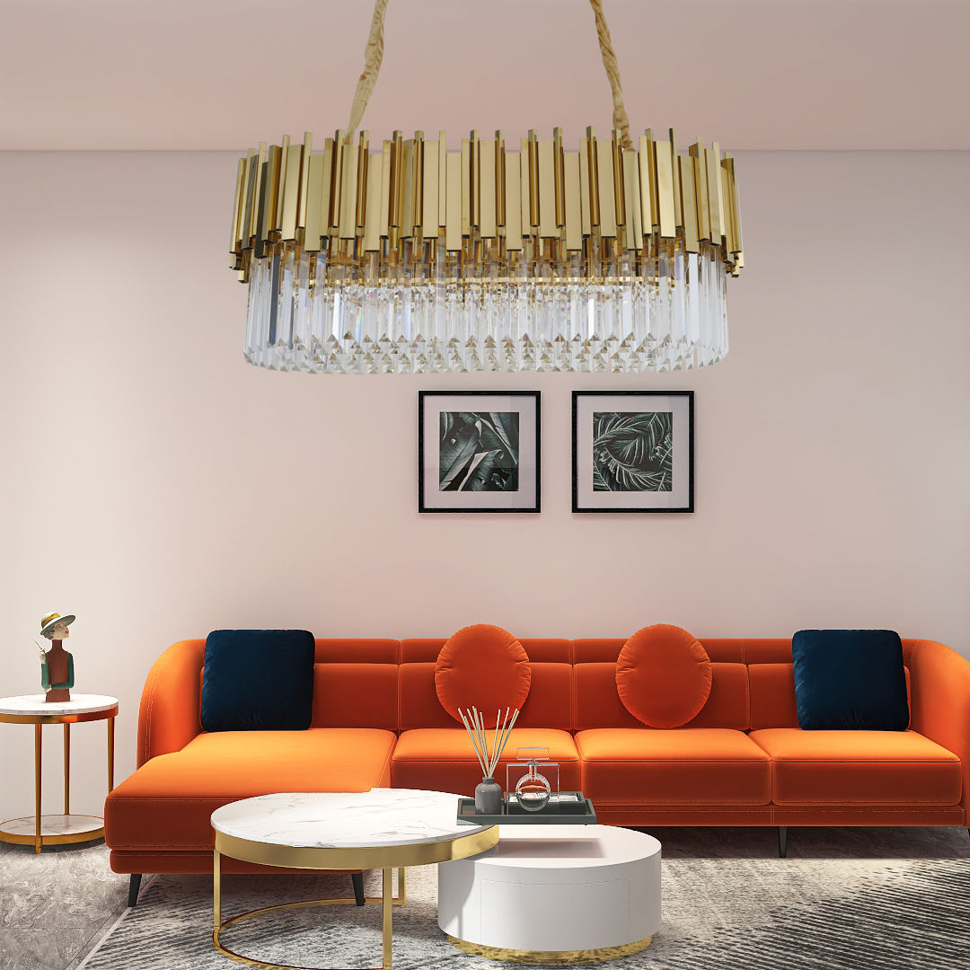 Chandelier New Unique Empire Crystal Simple Lustre Moderne De Luxe Cool Prices Centerpiece Table Indoor Pendant Light For Bar