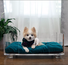 Large luxury clear acrylic pet bed lucite perspex kennel sofa