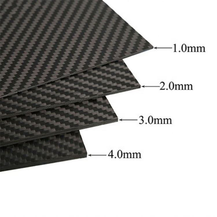 China Gesmeed Composiet Koolstofvezel Plaat Plaat 1Mm, 2Mm, 3Mm, 4Mm Etc Customed Grootte