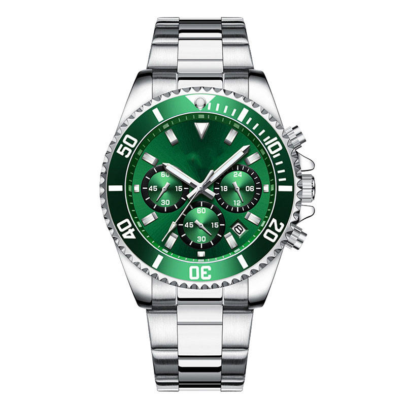 Hot sell cheaper stainless steel bracelet diver watches men wrist chronograph watches