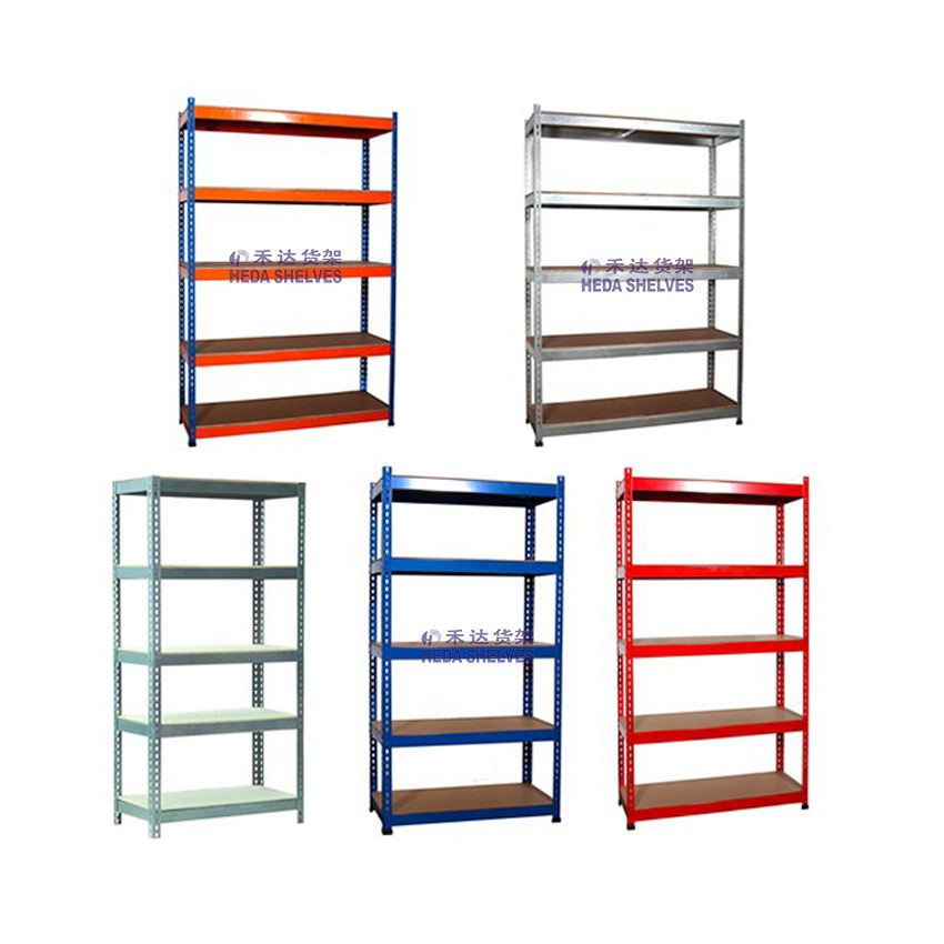 Factory Price five colors Stand storage racking shelves warehouse shelves rack heavy duty