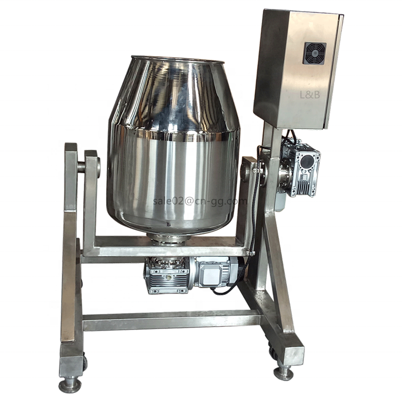 stainless steel rotary drum mixer machine for dry powder