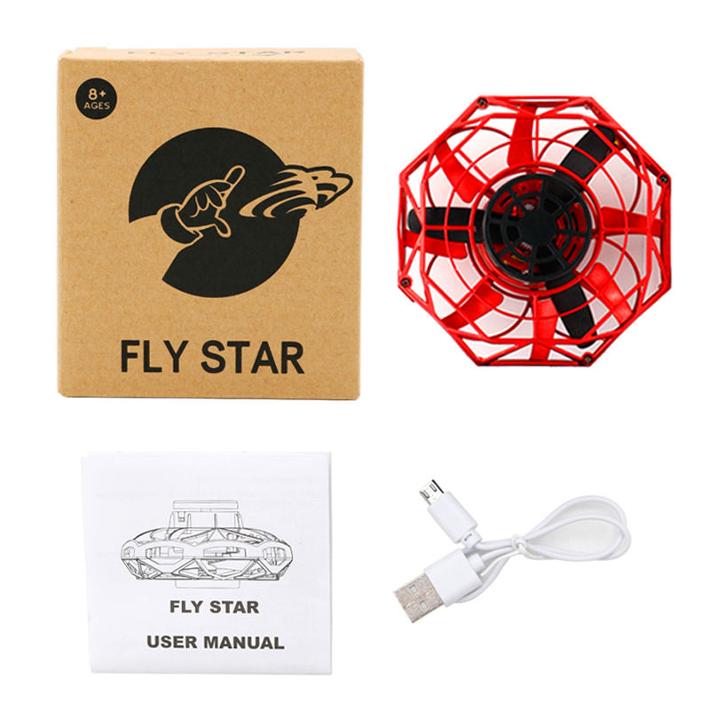Fly Star Mini Drone LED UFO type Flying Helicopter spinner Fingertip Upgrade Flight Gyro Drone Aircraft Toy Adult Kids Gift