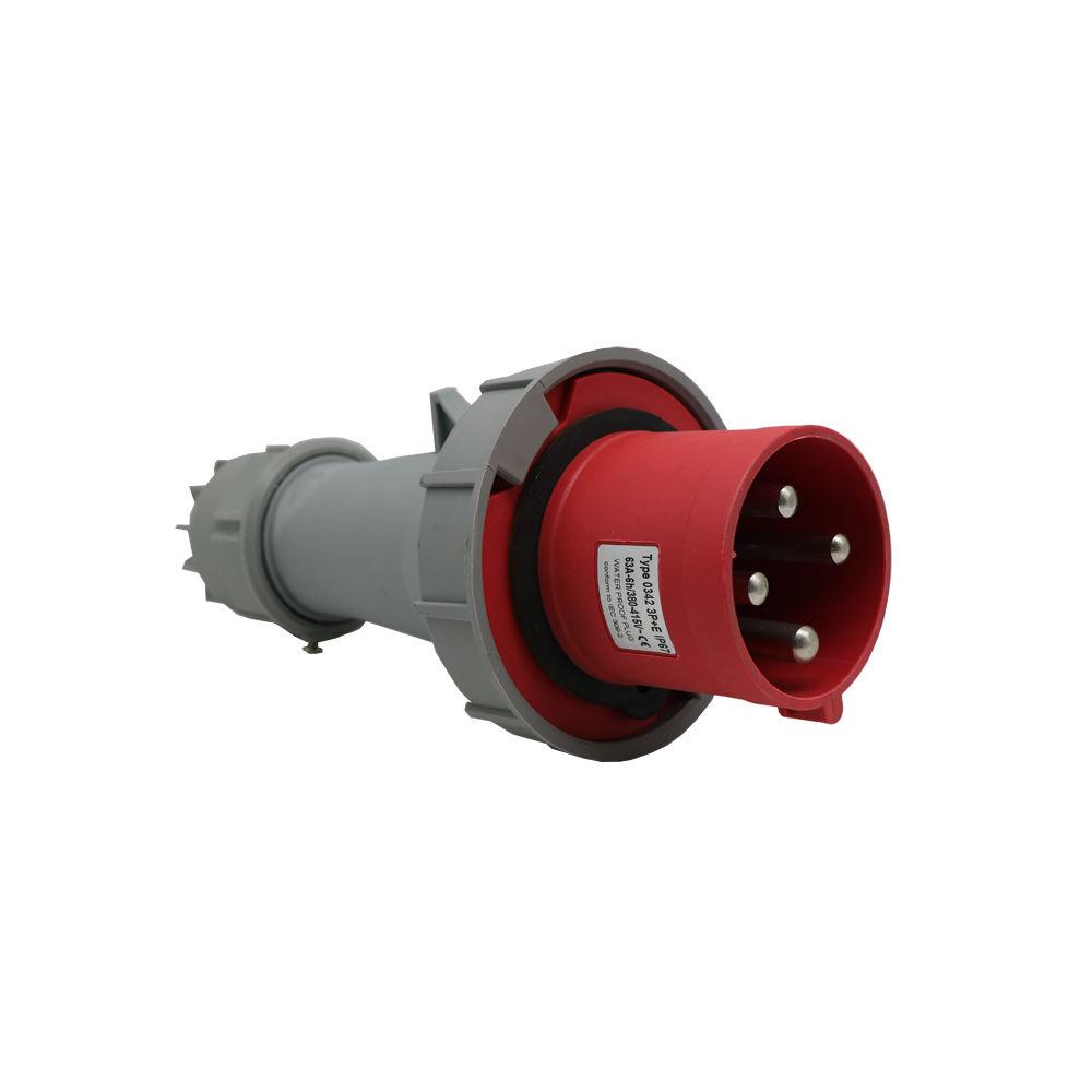 Rosso e grigio 3 fase 380V spina Industriale e presa 63A impermeabile spine elettriche sockets IP67