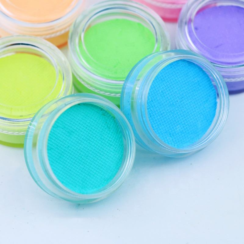 Private label cake wet colorful water activated uv pastel neon eyeliner for makeup