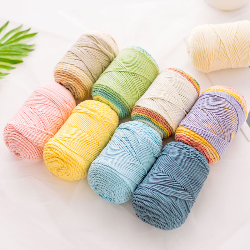 YarnCrafts high quality soft natural cotton acrylic blended crochet yarn for knitting hat scarf sweater