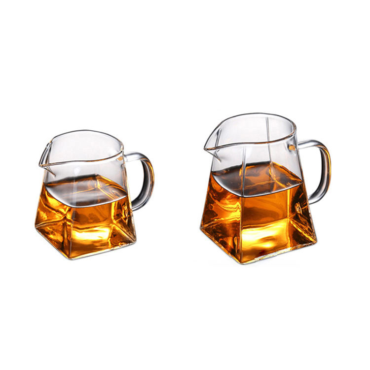 Creative Gift Cup TransparentGlass Square Home Tea Set