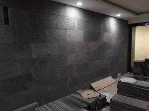 40X60 CM Black Exterior Stone Building Wall Cladding Basalt Panels