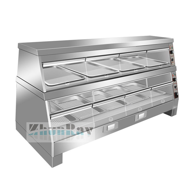 COMMERCIAL KFC HOT DISPLAY SHOWCASE FAST FOOD WARMER