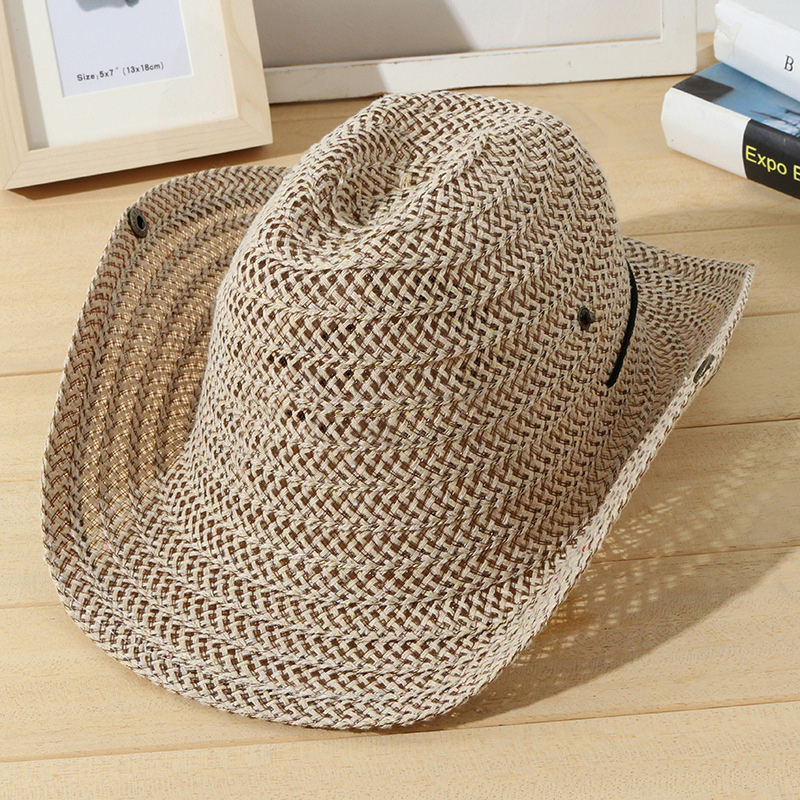 Fashionable cheap plain wholesale custom logo cowboy hats for man