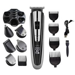 Electric Hair Clipper Hair Trimmer LED display multifunctional Cordless Electric Shaver Beard Nose trimmer Ear Shaver cutting