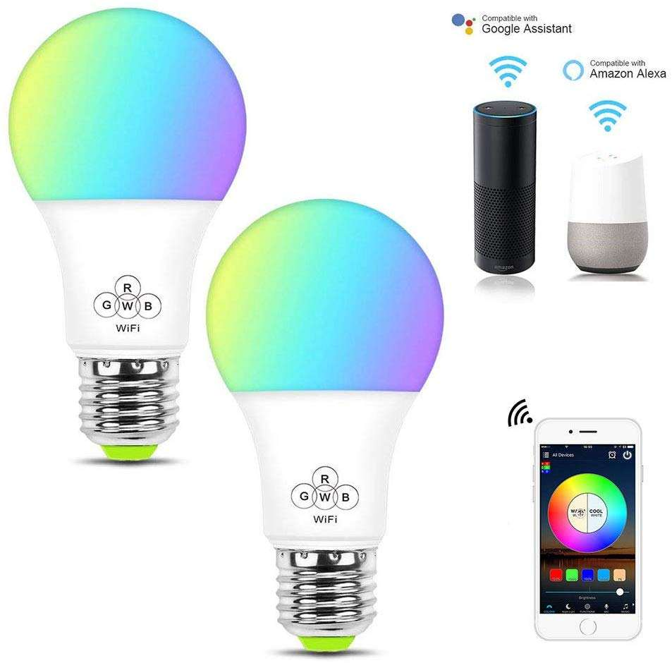 4.5W E27 Shenzhen Alexa Google Hom IFTTT RGB Color Changing Voice Control Warm Lighting Energy Saving LED Smart Wifi Lights Bulb
