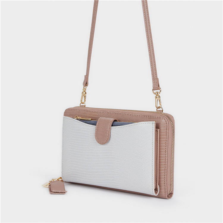 ZB251 2021 Custom Fashion Women Wallet With Strap Sustainable PU Leather Mini Shoulder Bag Crossbody Bag For Lady