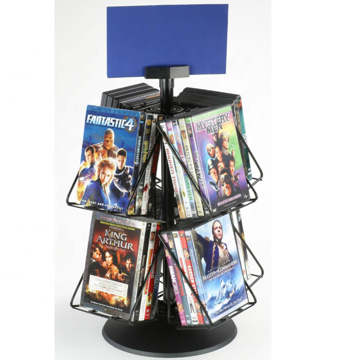 Metal Brochure Holder DVDs,Postcards, Notebooks, Gift Cards, CDs Display Rack