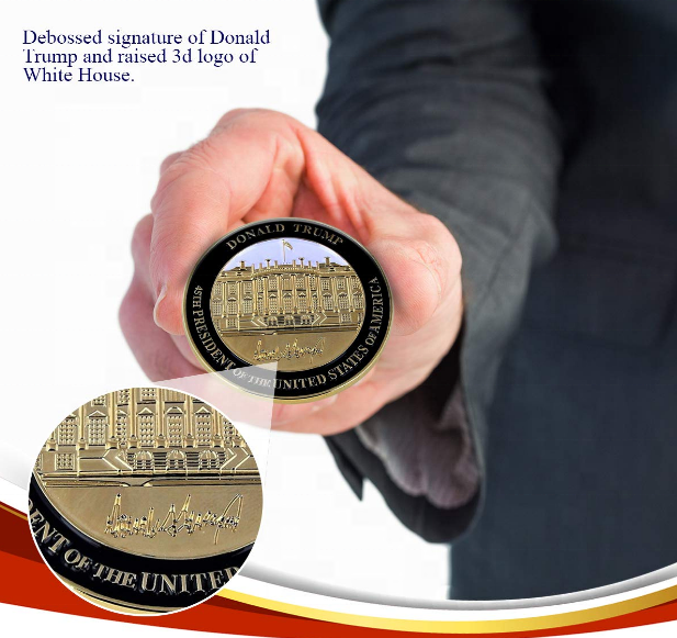 Rystinworks Donald Trump Inauguration Challenge Coin Limited Edition Commemorate The 45th President of The United States