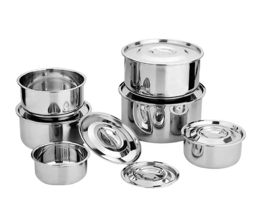 Stainless steel My home indian Thailand 5pcs set cooking pot stock pot