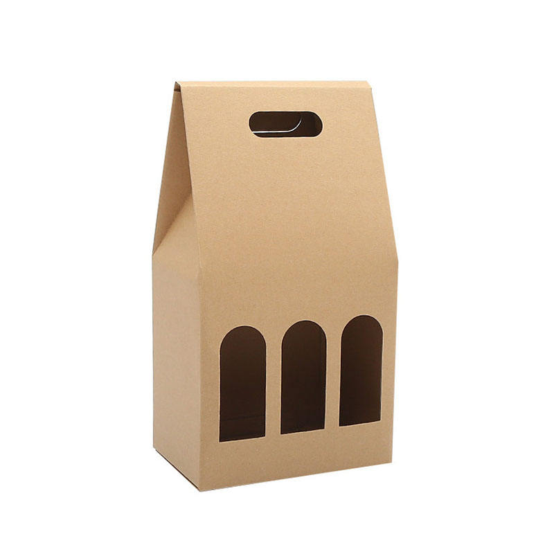 Recyclable Wine And Beverage Paper Packaging Kraft Gift Box