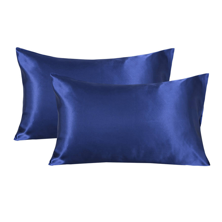 Satin Sublimation Grey Pillows Covers Silk Pillow Case Summer Satin silk pillowcase for hair and skin