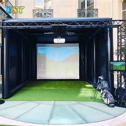 Hot selling portable indoor inflatable golf simulator for business or party event