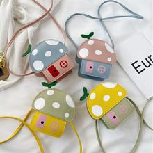 children Shoulder Bag Coin Purse Cell Phone Small mushroom shape girls handbag kids purses