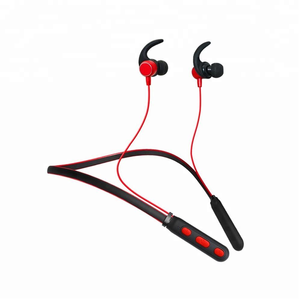 Industrial tamanho pequeno mãos livres estéreo neckband execução fone de ouvido <span class=keywords><strong>bluetooth</strong></span> fone de ouvido de <span class=keywords><strong>rádio</strong></span> fm