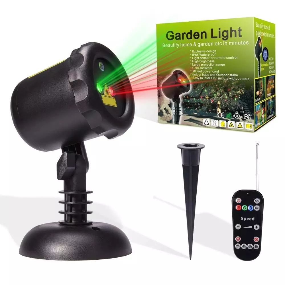 Hot New Retail Products Laser Christmas Lights Red Green Flowers Moving Outdoor Projector For Park/Courtyard Decoration in 2020