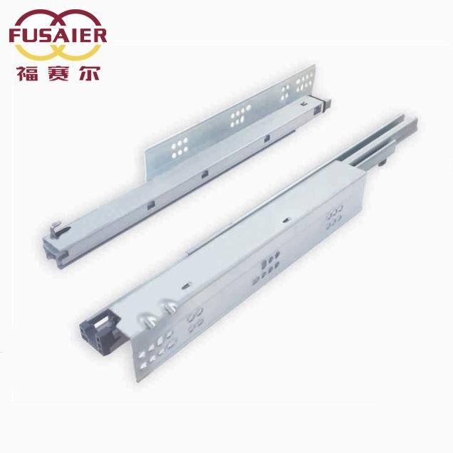 Fusaier Custom Europe Type Full Extension Soft Close Undermount Drawer Slide/Drawer Slide System for Kitchen