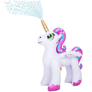 5 Fl. Unicorn Inflatable Unicorn Water playing equipment Inflatable Ginormous Unicorn Yard Sprinkler toy for Kids adult