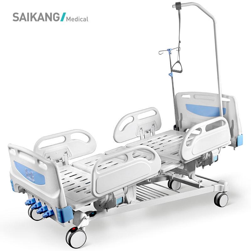 F4c Hospital Bed Saikang Abs 5 Functions Hospital Patient Bed With Side Rail