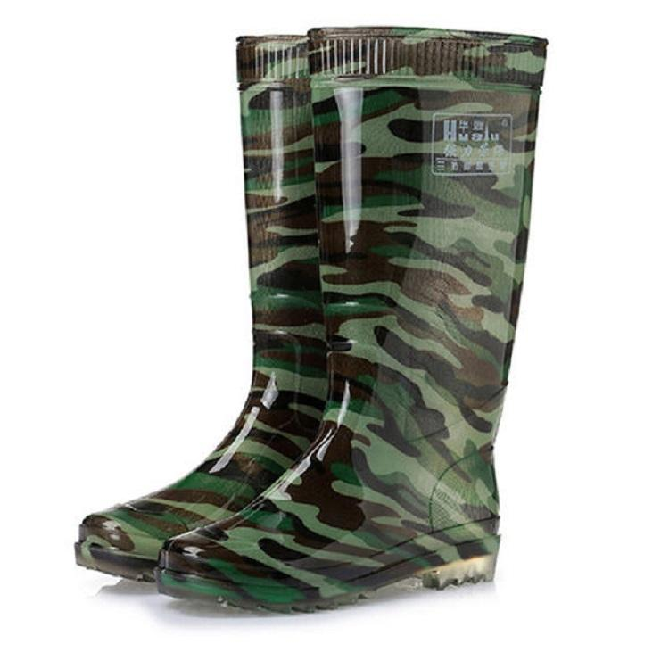 High Quality PVC Waterproof Military Rain Boots