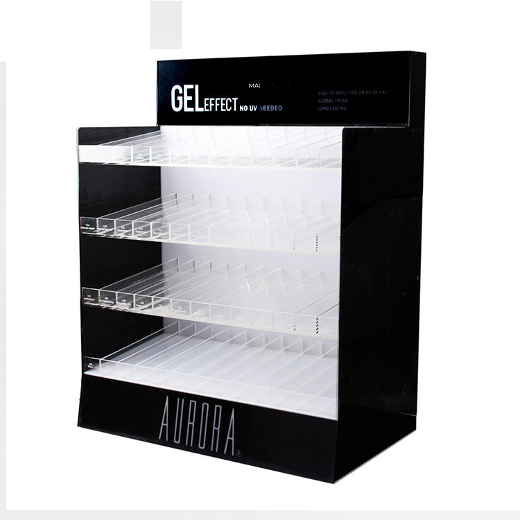 Perspex Cosmetische Make Storage Box In Muur Nail Floor Polish Acryl LED Display Stand