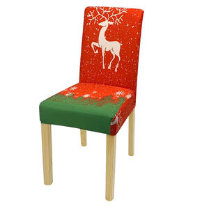 Christmas Hotel Banquet Party Chair Cover Dining Elastic High Back Seat Xmas Chair Covers